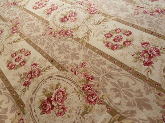 antique French cotton print fabric