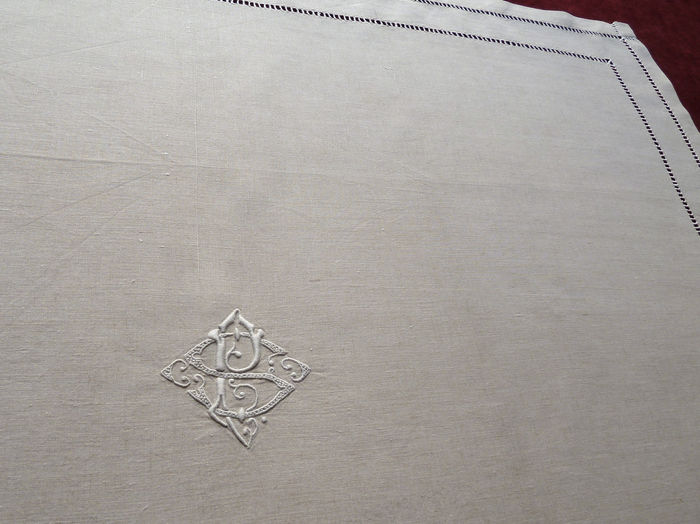 antique pure linen napkins monogram SP