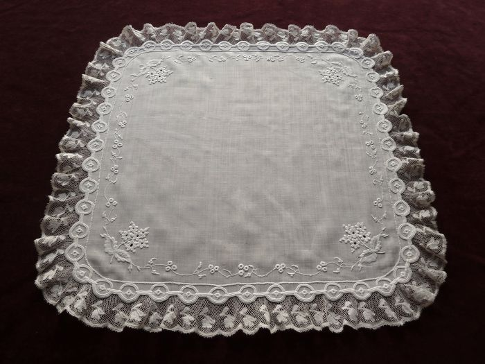 antique embroidered bridal handkerchief