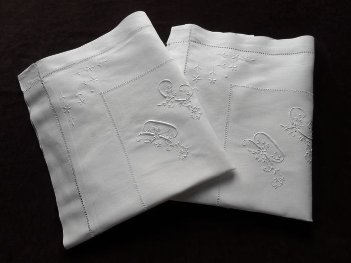 embroidered pillow shams monogram DC