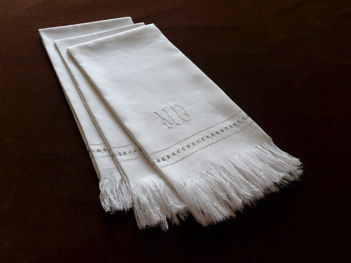 Antique Baptiste Hand Towels Monogrammed MD