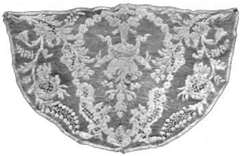 Alencon Lace Cape Crown around 1700