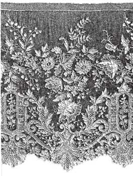 Alencon lace needle point