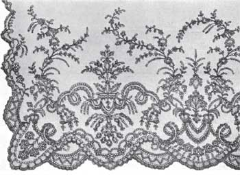 Chantilly lace veil 19th century